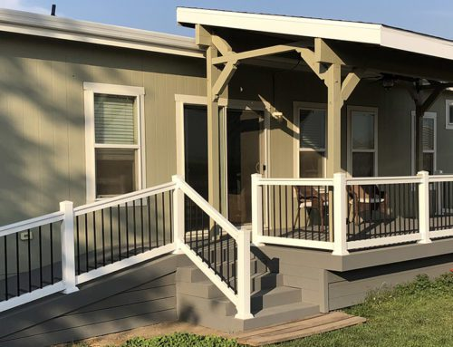 Deck Built with Trex Decking on a Modular Home