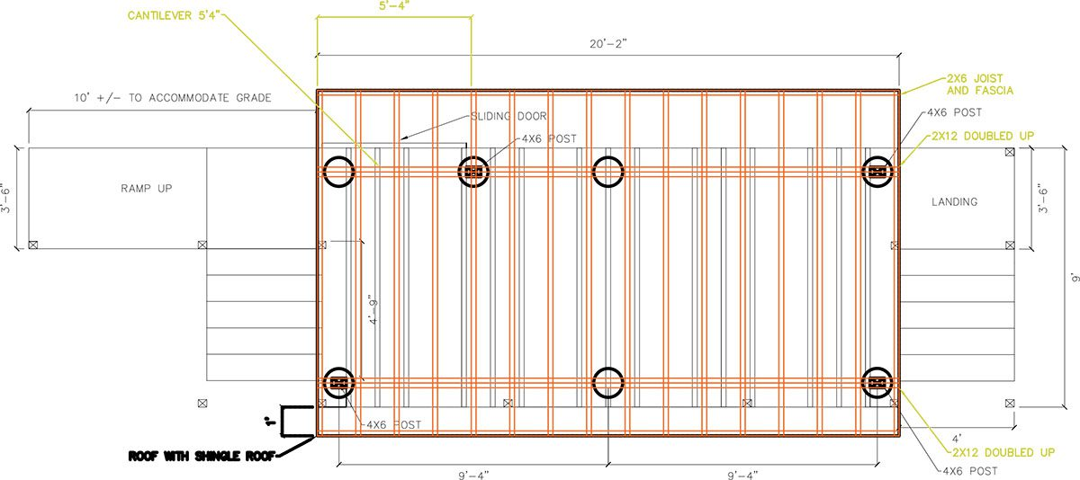 cad drawing for custom deck