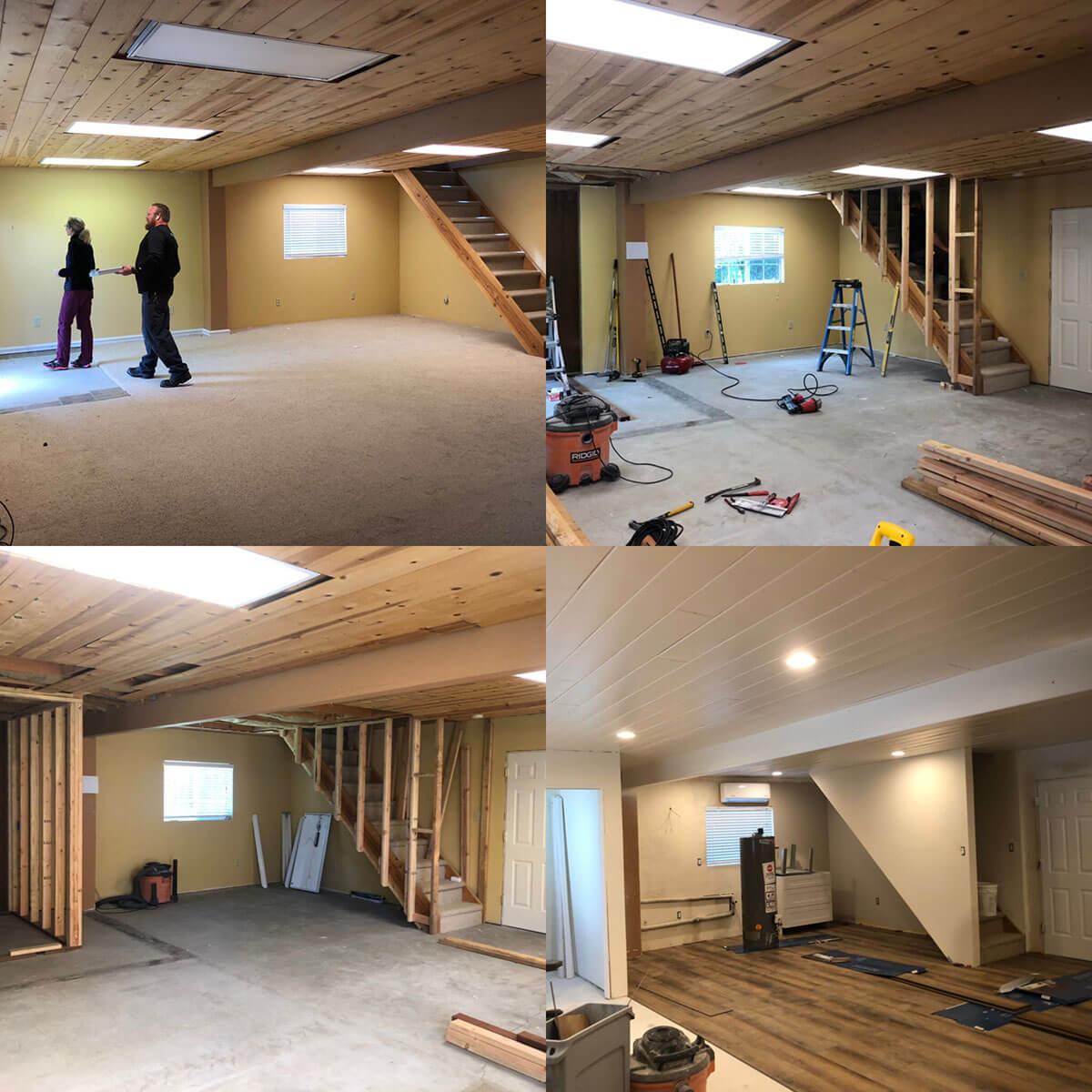 Progress of the casita remodel, focused on the staircase