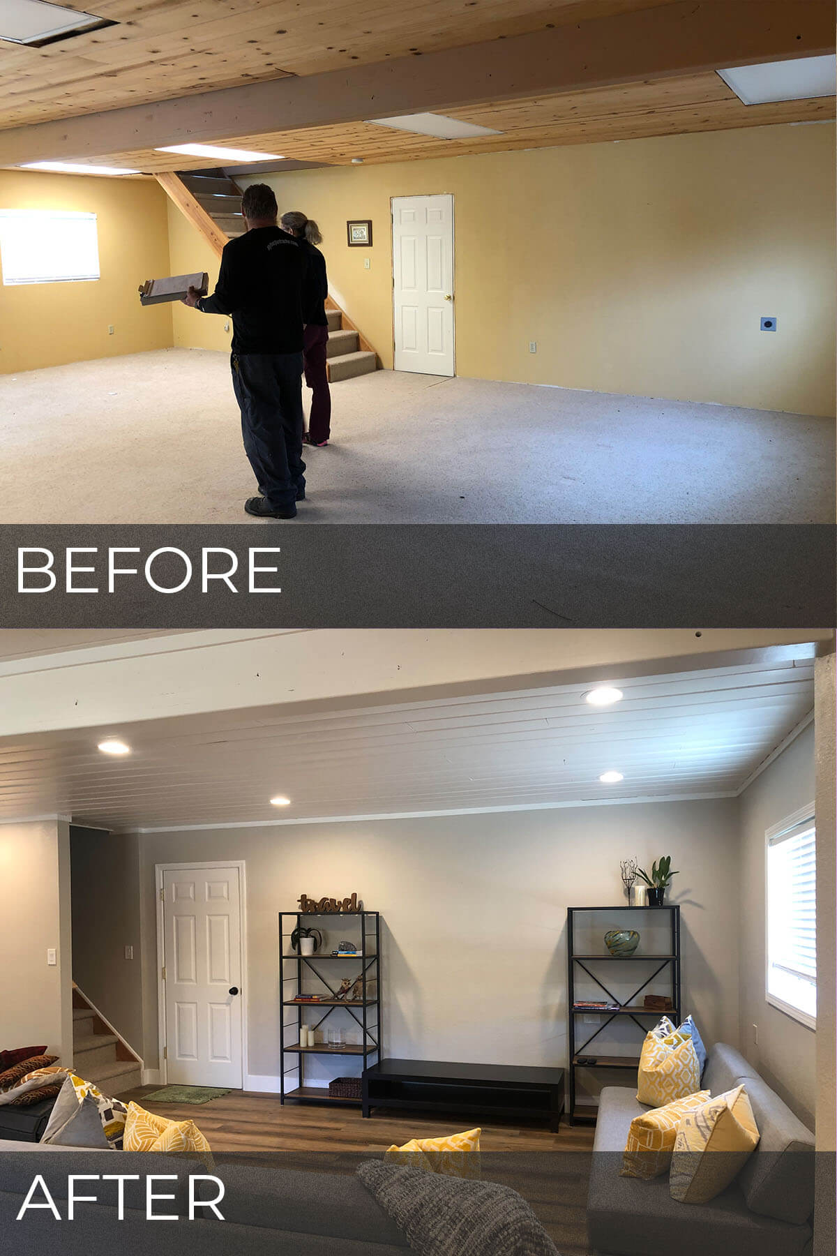 Guest house remodeled in Tracy - before and after