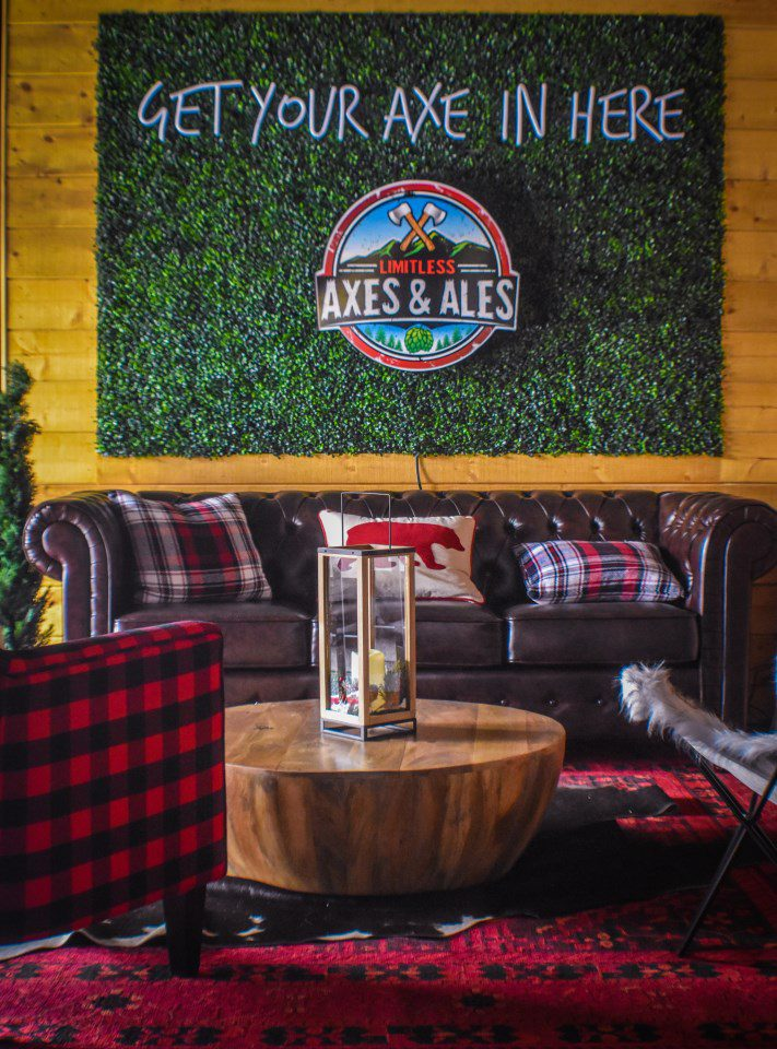 Axes & Ales sitting area