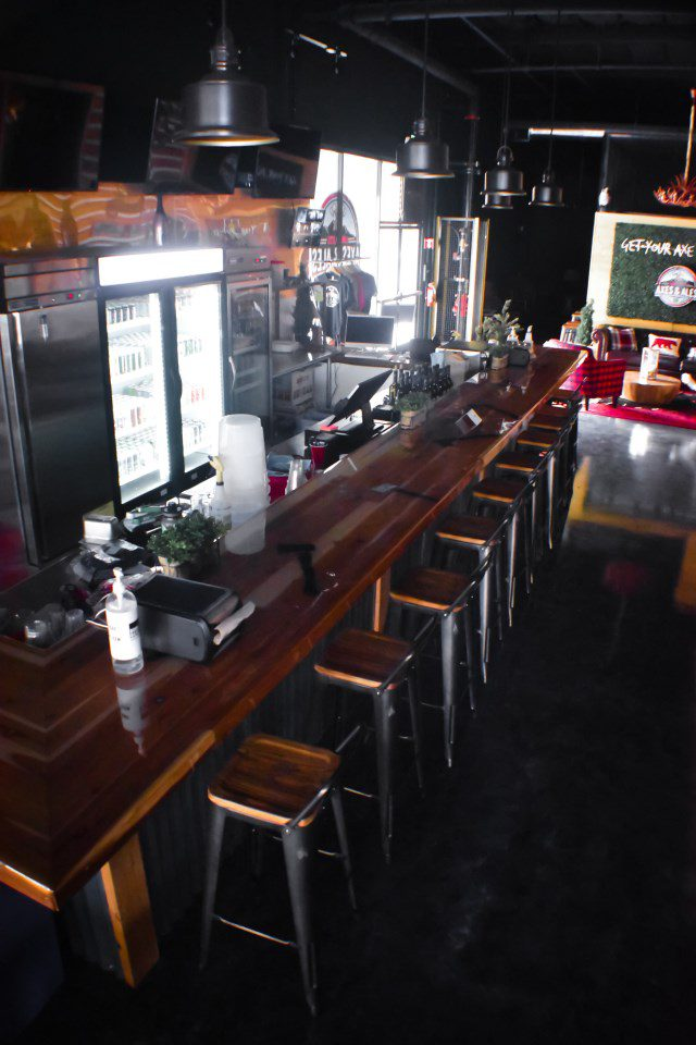 bar area in Limitless Axes & Ales
