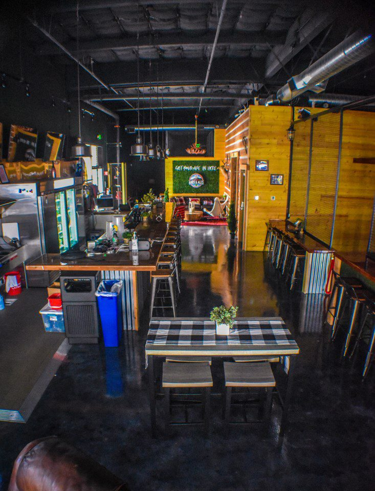 limitless axes and ales in pleasanton interior decor with bar